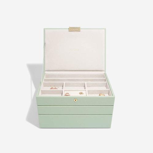 Classic Set of 3 JewelleryBox - Sage Green