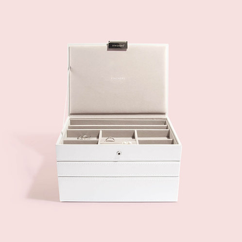 Classic Set of 3 Jewellery Box - White