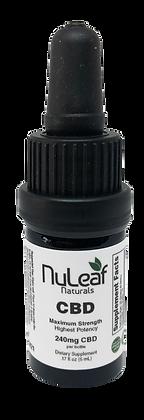 NuLeaf Naturals CBD Oil 240 mg.
