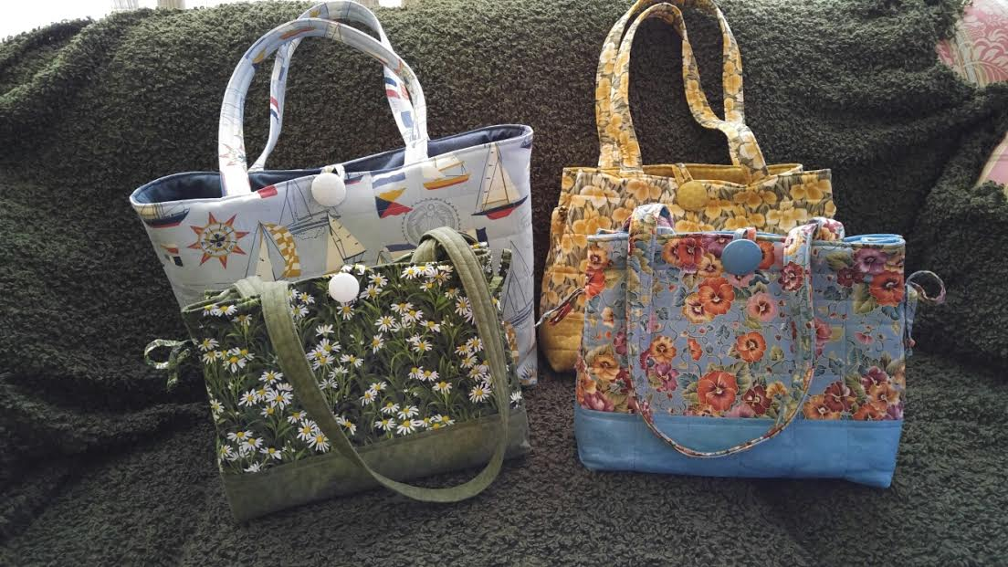 Fabric Handbags/totes/key fobs