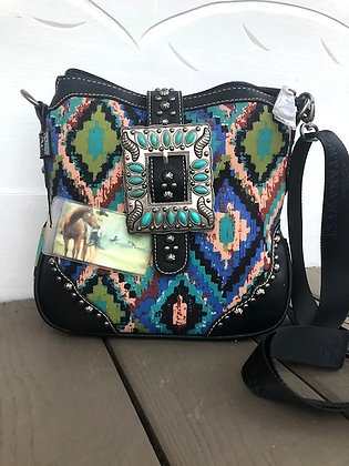 Montana West Aztec Buckle Purse