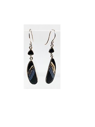 Sterling Silver with Black Onyx