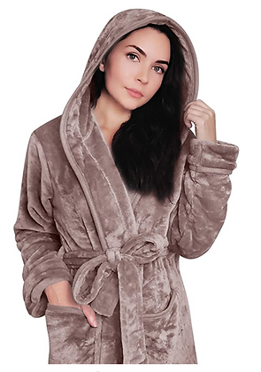 Womens hooded robe