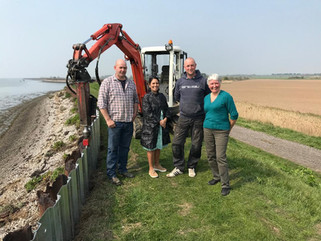 Priti Patel MP inspects ECO minor seawalls repair project