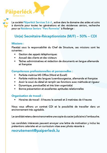 AnnoncePoste_Secrétaire_Rodange_Juillet2021.png