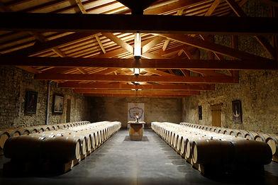 chai à barriques du Château Larrivaux