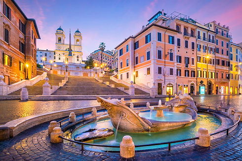 Spanish Steps in the morning, Rome, Italy at twilight.jpg