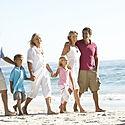 Three Generation Family On Holiday Walki