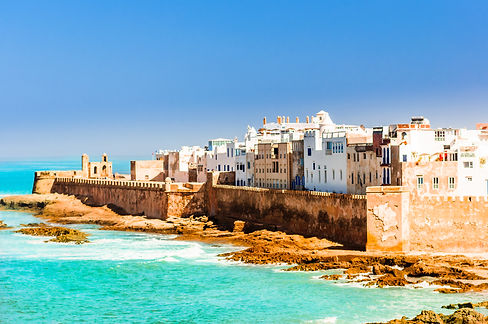 Aerial view on old city of Essaouira in