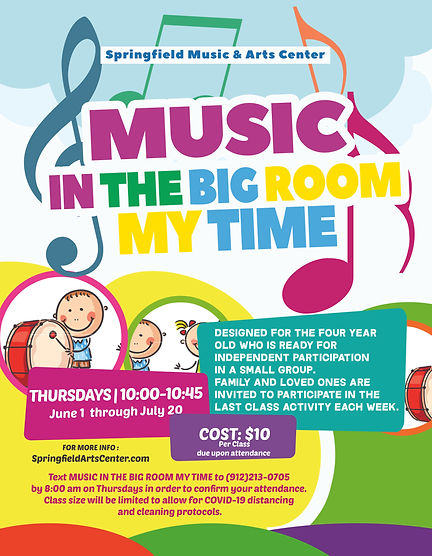 Music In The Big Room My Time 2021 Flyer