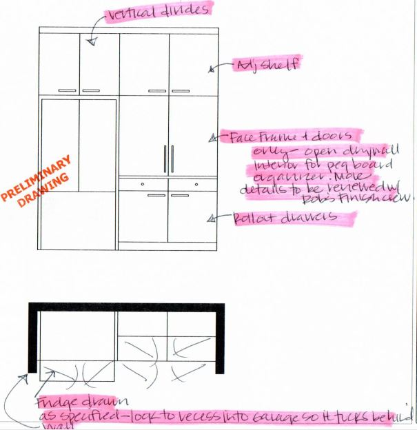 Fridge Wall Plan and Elevation