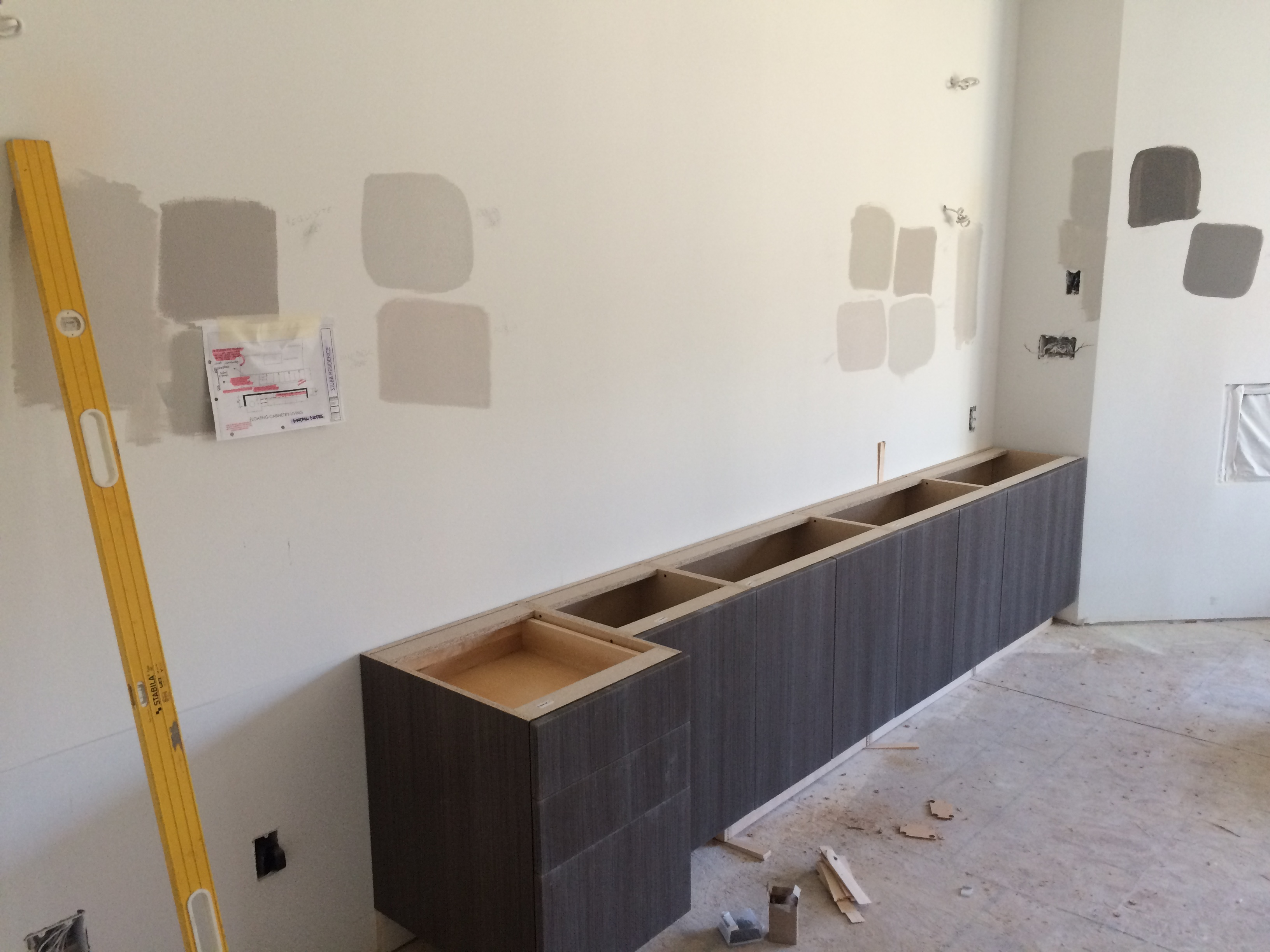 Kitchen Base Cabinet Installation