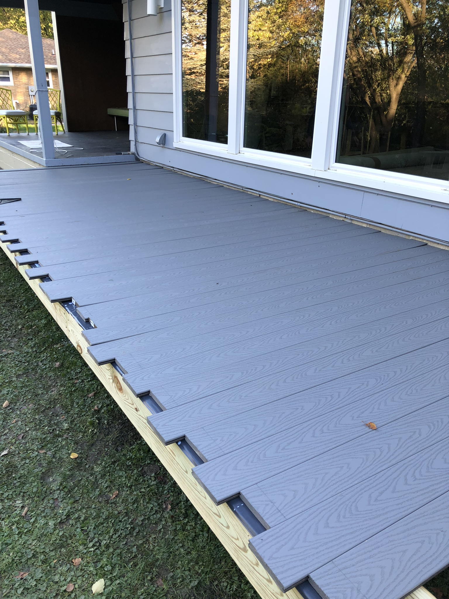 exterior progress deck addition