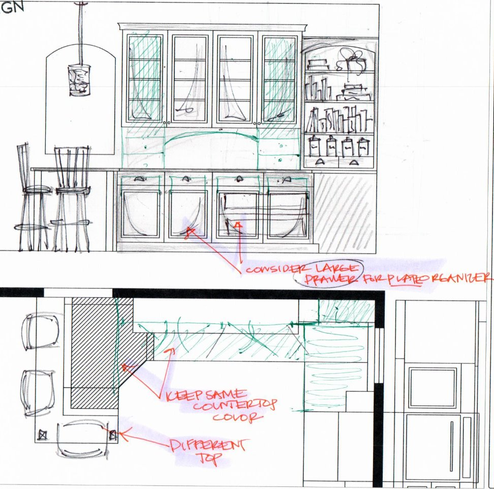 kitchen space plan