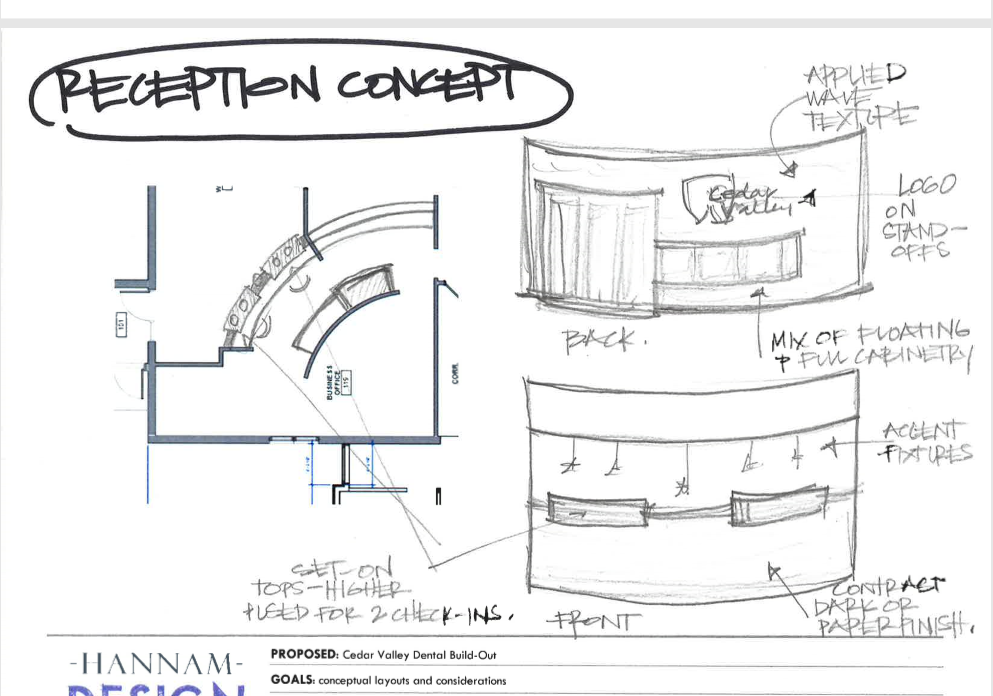 conceptual re-design reception desk