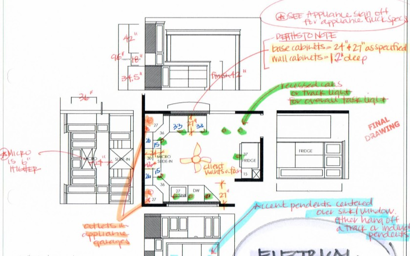 kitchen electrical design plan