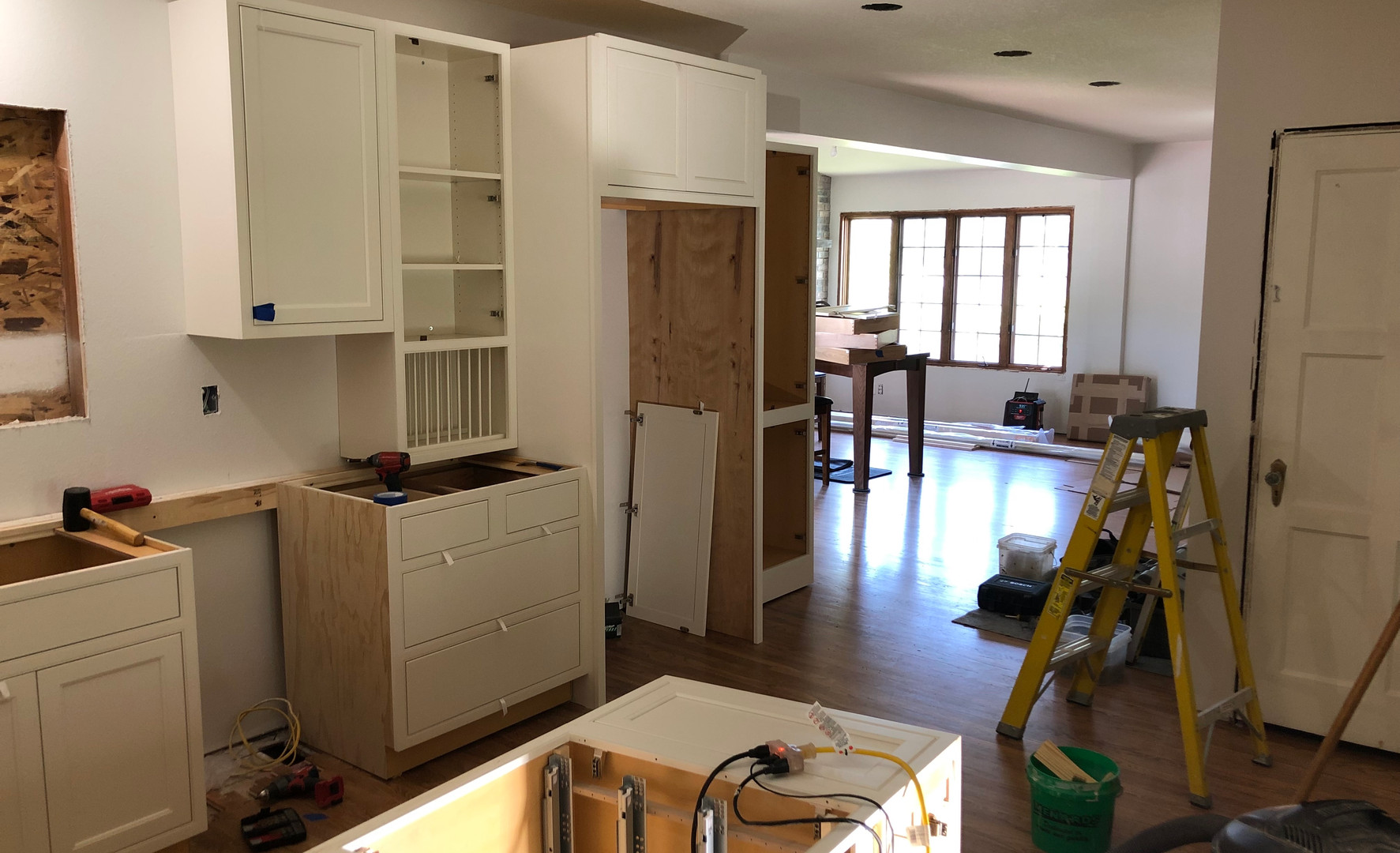 progress cabinetry and countertop install