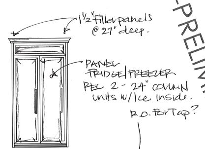 Fridge Panel Schematic Drawing