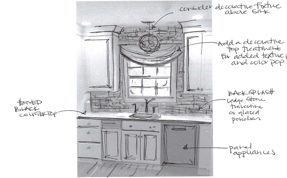 Sink Wall Schematic Sketch