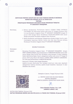 Decree of Minister of Law