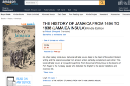 … History of Jamaica available as E-book (Amazon)