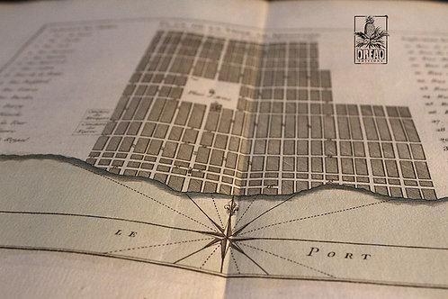 Plan de Kingston de 1764 ! Aquerellé à la main.