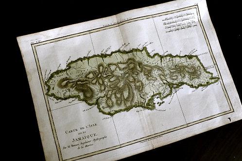 BONN, Carte de la Jamaïque (1777). RARE.