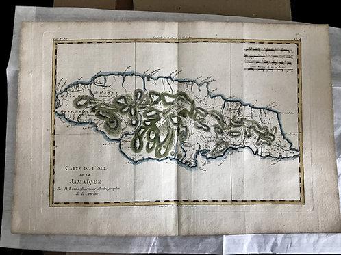 Carte de l'Isle de la Jamaïque, par R. Bonne (1780).