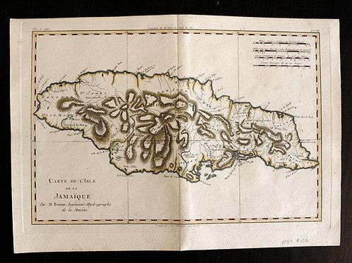 RARE : Carte de 1781 coloriée à la main !