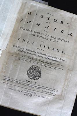 Page de titre de l'ouvrage d'Edward Long (1774).