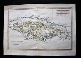 Carte de l'Isle de la Jamaïque... vers 1780 !