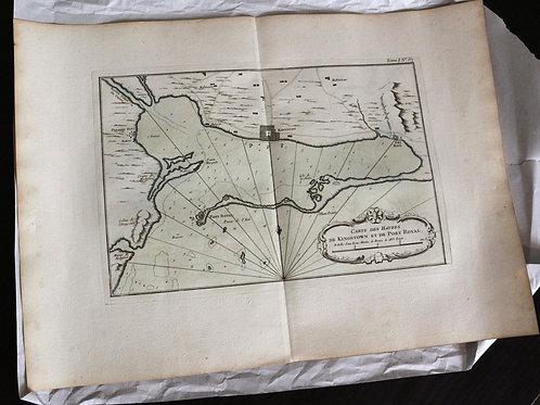 Carte de Kingston et sa baie de... 1758 !