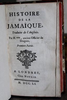 L'Histoire de l'histoire de la Jamaïque