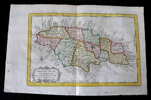 Carte de l'Isle de la Jamaïque (1758).