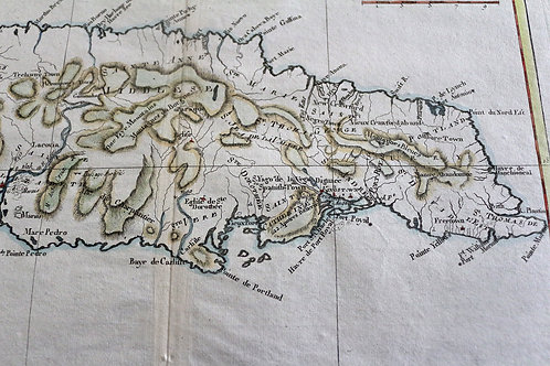 Carte de l'Isle de la Jamaïque (vers 1780).