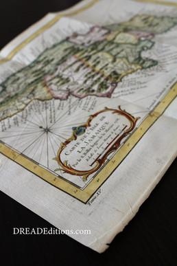 La Jamaïque, carte de 1758 aquarelée à la main !
