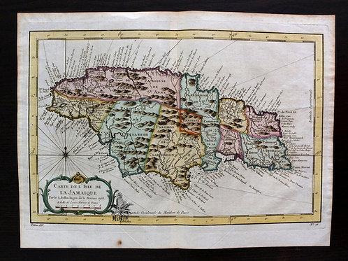 BELLIN, Carte de la Jamaïque (1758)