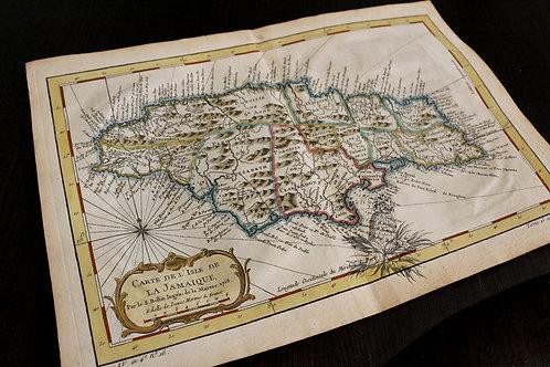 Carte de la Jamaïque (Bellin, 1758).