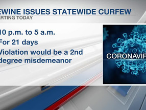 COVID-19 Update: 21-Day Statewide Curfew