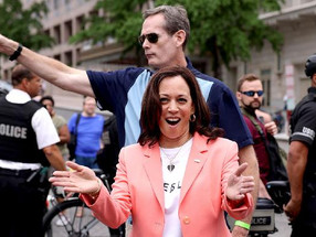 Kamala Harris Becomes First Sitting Vice President to March in Pride Event