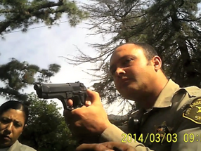 Real Scary Video Of A Cop Pulling His Gun On A Guy Threatening His life.