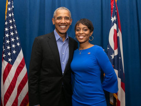 Congress Hopeful Shontel Brown Visits Akron 3/24/21