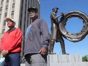 City Of Akron Rubber Worker Statue