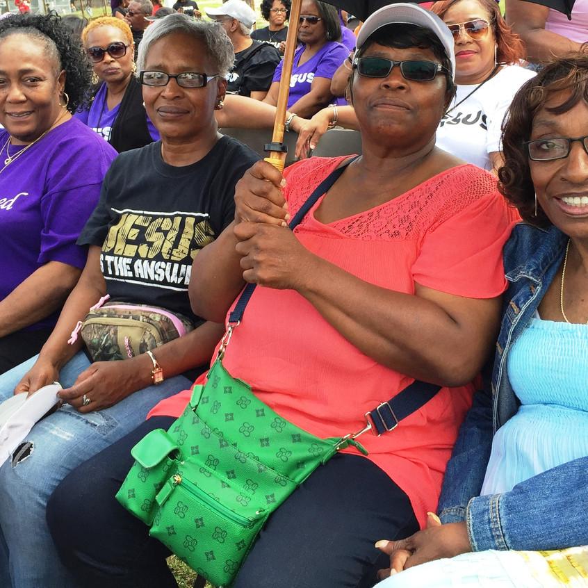 Word Church members of Cleveland: Diane S. Williams, JoAnn Feagins, Belinda Mann, Patricia Giles and Gwendolyn Baker.