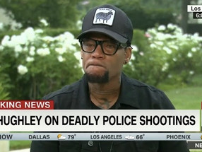 D.L. Hughley Breaks Down Over Police Killings of Black Men (Watch)