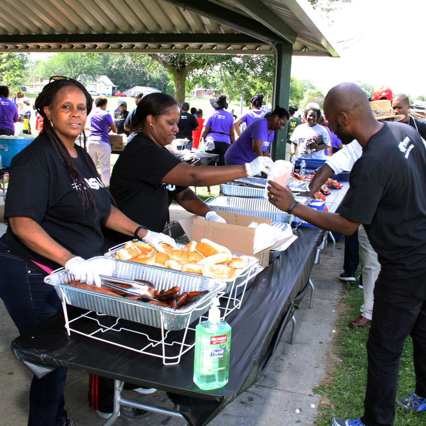 The word church fed citizens who came out to help decrease crime in the area.