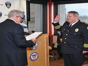 Mayor Dan Horrigan Swears In Akron Police Chief Stephen Mylett