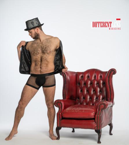 Phil Bruce wearing underwear by Modus Vivendi