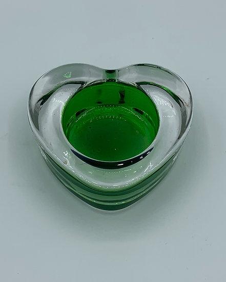 Castiçal coração verde
