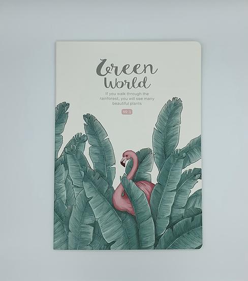 Caderno flamingo Green World